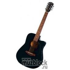 FLIGHT W57С BKS - акустическая 7-струнная вестерн гитара
