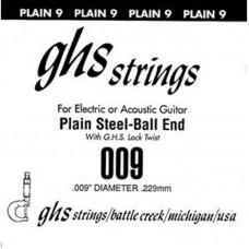 GHS 009 - одиночная струна 0,009