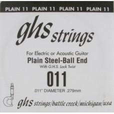 GHS 011 - одиночная струна 0,011