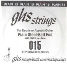 GHS 015 - одиночная струна 0,015