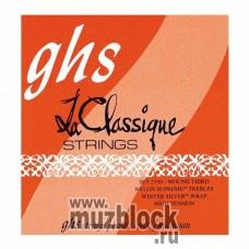 GHS 2350 - струны для классической гитары, нейлон Supreme, очень сильное натяжение
