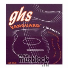 GHS 2500 - нейлоновые струны для классической гитары, никель, сильное натяжение