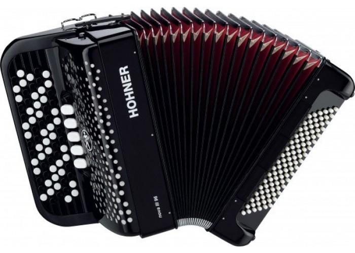 HOHNER Nova III 96 (A1572/А4272) black - кнопочный аккордеон 7/8