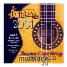 LA BELLA 2001 Flamenco Hard - нейлоновые струны для классической гитары, сильное натяжение