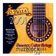 LA BELLA 2001 Flamenco Medium - нейлоновые струны для классической гитары, среднее натяжение