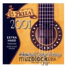 LA BELLA 2001 Extra Hard - нейлоновые струны для классической гитары, очень сильное натяжение