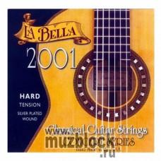 LA BELLA 2001 Hard - нейлоновые струны для классической гитары, сильное натяжение