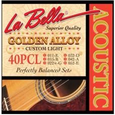 LA BELLA 40PCL - струны для акустической гитары