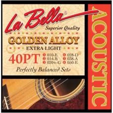 LA BELLA 40PT - струны для акустической гитары