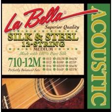 LA BELLA 710-12M - струны для 12-струнной гитары