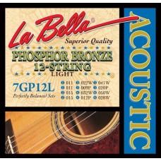 LA BELLA 7GP-12L струны для 12-струнной гитары