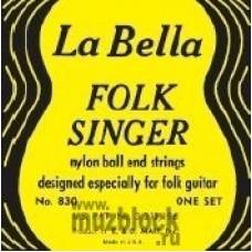 LA BELLA 830 Folksinger - струны для акустической гитары ФОЛК