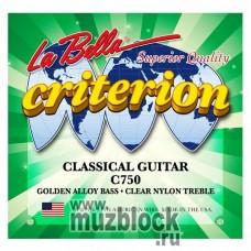 LA BELLA C750 - нейлоновые струны для классической гитары