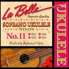 LA BELLA Ukulele 11 - струны для сопрано укулеле