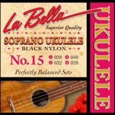 LA BELLA Ukulele 15 - сопрано укулеле
