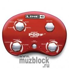 LINE 6 POCKET POD Express GUITAR PREAMP - компактный моделирующий гитарный процессор