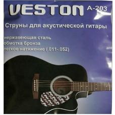 VESTON A203 (A2) - струны для акустической гитары