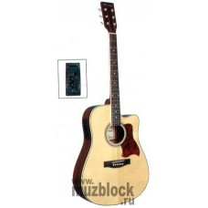 VESTON F-650CEQ/BK - электроакустическая гитара