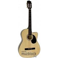 VESTON F-390 C - классическая гитара с металлическими струнами, с вырезом