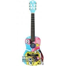SPONGEBOB SBG01 - уменьшенная детская гитара размера 1/2 с набором аксессуаров
