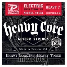 DUNLOP DHCN1060-7 HEAVY CORE - струны для 7-струнной электрогитары, 10-60