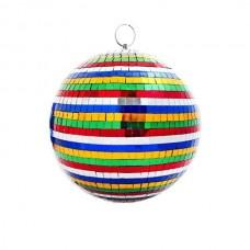 PSL-MB20-MC - зеркальный шар, диаметр 20 см, разноцветный