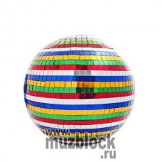 PSL-MB25-MC - зеркальный шар, диаметр 25 см, разноцветный