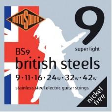 ROTOSOUND BS9 STRINGS STAINLESS STEEL струны для электрогитары