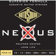 ROTOSOUND NXA10 STRINGS COATED TYPE струны для акустической гитары