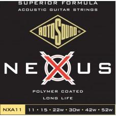 ROTOSOUND NXA11 STRINGS COATED TYPE струны для акустической гитары