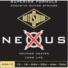 ROTOSOUND NXA12 STRINGS COATED TYPE струны для акустической гитары