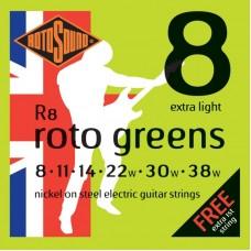 ROTOSOUND R8 STRINGS NICKEL EXTRA LIGHT струны для электрогитары