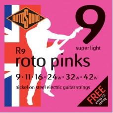 ROTOSOUND R9 STRINGS NICKEL SUPER LIGHT струны для электрогитары
