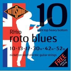 ROTOSOUND RH10 STRINGS NICKEL LIGHT TOP/HEAVY BOTTOM струны для электрогитары