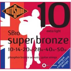 ROTOSOUND SB10 STRINGS PHOSPHOR BRONZE струны для акустической гитары