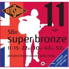 ROTOSOUND SB11 STRINGS PHOSPHOR BRONZE струны для акустической гитары