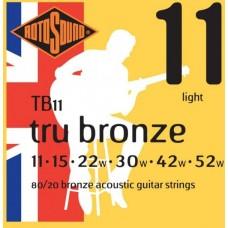ROTOSOUND TB11 STRINGS PHOSPHOR BRONZE струны для акустической гитары