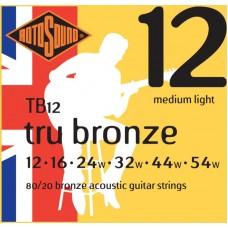 ROTOSOUND TB12 STRINGS PHOSPHOR BRONZE струны для акустической гитары