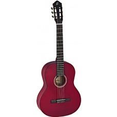 Ortega RST5MWR Student Series Классическая гитара, размер 4/4, красная, матовая