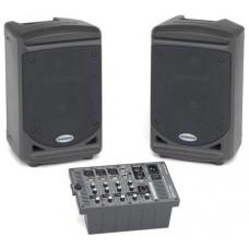 Samson XP150 Мобильный звуковой комплект: 2 АС и 5ти входового микшера-усилителя