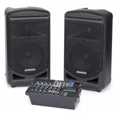 Samson XP800 Мобильный звуковой комплект:2 АС и 8-и канальный микшер-усилитель