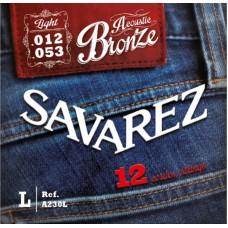 SAVAREZ A230L - струны для 12 струнной акустической гитары
