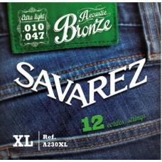 SAVAREZ A230XL - струны для 12 струнной акустической гитары