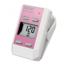 SEIKO DM51 Pink - цифровой метроном прищепка с часами