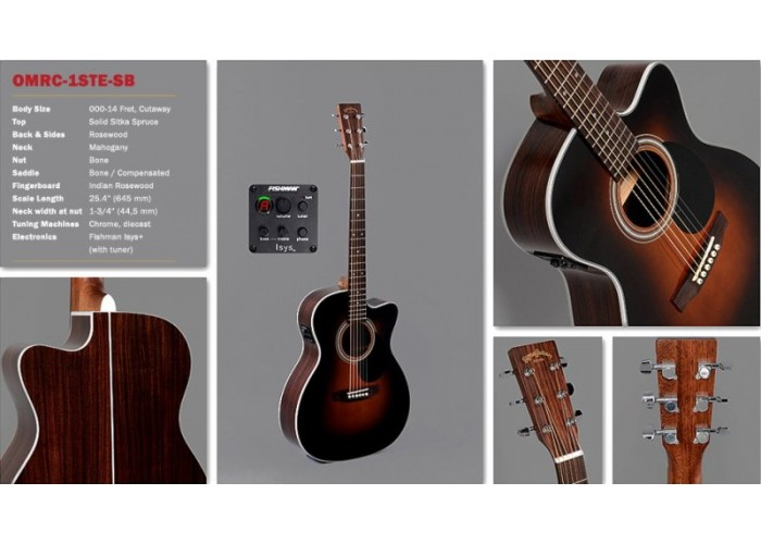 SIGMA OMRC-1STE-SB - электроакустическая гитара