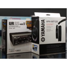 Steinberg UR22mkII+HPHMT120 Набор USB аудиоинтерфейс Steinberg UR22mkII и наушники Yamaha HPH-MT120