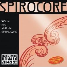 THOMASTIK S15 Spirocore Комплект струн для скрипки размером 4/4, среднее натяжение