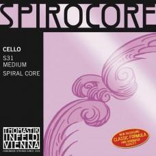 THOMASTIK S31 Spirocore - струны для виолончели