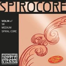 Thomastik S8 Spirocore Отдельная струна Е/Ми для скрипки, размером 4/4, среднее натяжение