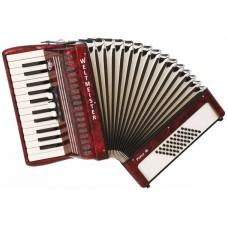 Weltmeister Perle 26/48/II/3 RD аккордеон 2/4, красный, ремни и кейс в комплекте